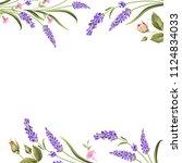 botanical decorative border... | Shutterstock .eps vector #1124834033