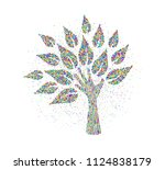 tree made of human hands in... | Shutterstock .eps vector #1124838179