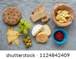 cold appetizer. cold cuts....   Shutterstock . vector #1124842409