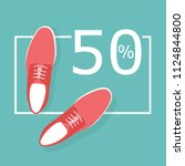 shoes sale vector | Shutterstock .eps vector #1124844800