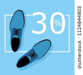 shoes sale vector | Shutterstock .eps vector #1124844803