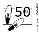 shoes sale black and white | Shutterstock .eps vector #1124844806