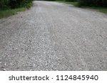 Country Gravel  Road. Empty...