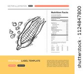 vector concept of fresh healthy ... | Shutterstock .eps vector #1124847800