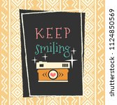 summer vector banner with... | Shutterstock .eps vector #1124850569