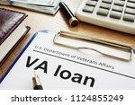 va loan u.s. department of...   Shutterstock . vector #1124855249