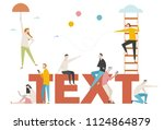downsizing people character... | Shutterstock .eps vector #1124864879