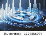 round digital button with forex ... | Shutterstock . vector #1124866079