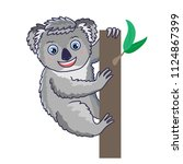 cute koala animal mascot.... | Shutterstock .eps vector #1124867399