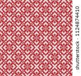 jacquard fairisle wool seamless ... | Shutterstock .eps vector #1124874410
