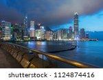 panorama of victoria harbor in... | Shutterstock . vector #1124874416