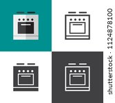 stove icons 2018 | Shutterstock .eps vector #1124878100