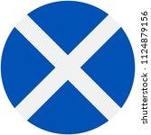 circular flag of scotland | Shutterstock .eps vector #1124879156