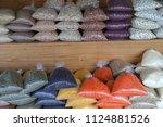 organic pulses in the market | Shutterstock . vector #1124881526