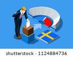sweden election voting concept...   Shutterstock .eps vector #1124884736