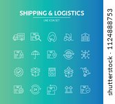 shipping logistics line icon   Shutterstock .eps vector #1124888753