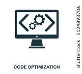 code optimization icon. line...