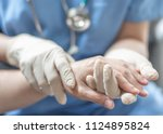 surgeon  surgical doctor ... | Shutterstock . vector #1124895824