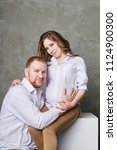 couple is expecting a baby.... | Shutterstock . vector #1124900300
