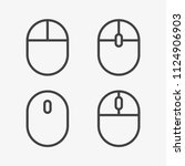 computer mouse icons set....