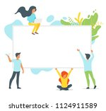 vector flat style set of people ... | Shutterstock .eps vector #1124911589