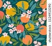 tropical summer fruit seamless... | Shutterstock .eps vector #1124913290