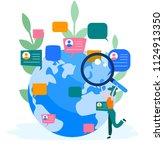 concept businessmen discuss... | Shutterstock .eps vector #1124913350