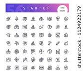 set of 56 startup line icons...   Shutterstock .eps vector #1124922179