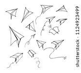 hand drawn sketch doodle vector ... | Shutterstock .eps vector #1124923499