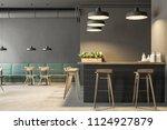 industrial style bar interior...   Shutterstock . vector #1124927879