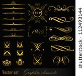 set of design elements | Shutterstock .eps vector #112493144
