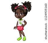 cartoon illustration of a cute...   Shutterstock .eps vector #1124935160