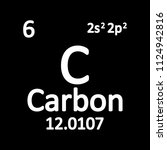 periodic table element carbon... | Shutterstock .eps vector #1124942816