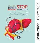 world hepatitis day vector...   Shutterstock .eps vector #1124944010