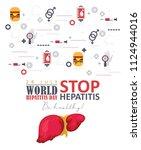 world hepatitis day vector...   Shutterstock .eps vector #1124944016