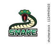snake logo for your business ... | Shutterstock .eps vector #1124945603