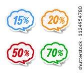 speech bubble set with gradient ... | Shutterstock .eps vector #1124954780