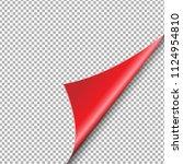 red corner isolated  vector... | Shutterstock .eps vector #1124954810