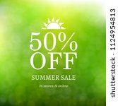 sale summer background with... | Shutterstock .eps vector #1124954813
