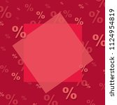 red sale poster with gradient... | Shutterstock .eps vector #1124954819