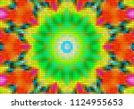 illustration of mosaic images ... | Shutterstock . vector #1124955653