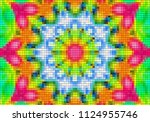 illustration of mosaic images ... | Shutterstock . vector #1124955746