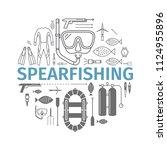 spearfishing banner. vector... | Shutterstock .eps vector #1124955896