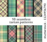 set of seamless tartan patterns | Shutterstock .eps vector #1124956790