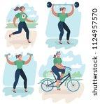vector cartoon illustration of... | Shutterstock .eps vector #1124957570