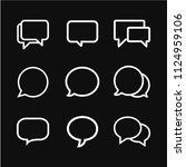chat speech bubble icon vector... | Shutterstock .eps vector #1124959106