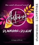 vector autumn party poster with ... | Shutterstock .eps vector #1124959466