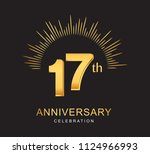 17th anniversary design with... | Shutterstock .eps vector #1124966993