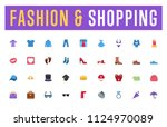 all fashion  clothes  shopping... | Shutterstock .eps vector #1124970089