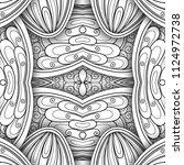 monochrome seamless tile... | Shutterstock . vector #1124972738